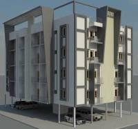 دانلود پروژه رویت REVIT آپارتمان ۴ طبقه با پیلوتی