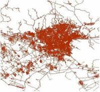 دانلود نقشه GIS شبکه معابر شهر تهران