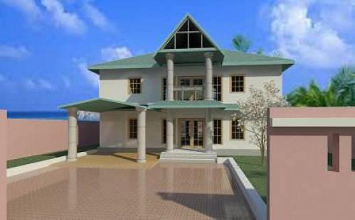 دانلود پروژه رویت REVIT ویلایی دو طبقه سقف شیبدار